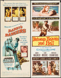 """Movie Posters:War, Darby's Rangers & Others Lot (Warner Brothers, 1958). Inserts(5) (14"""" X 36""""). War.. ... (Total: 5 Items)"""