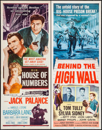 "House of Numbers & Others Lot (MGM, 1957). Inserts (4) (14"" X 36""). Film Noir. ... (Total: 4 Items)"