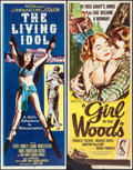 "Movie Posters:Adventure, The Living Idol & Others Lot (MGM, 1956). Inserts (4) (14"" X36""). Adventure.. ... (Total: 4 Items)"