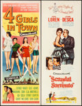 """Movie Posters:Drama, Four Girls in Town & Others Lot (Universal International,1957). Inserts (4) (14"""" X 36""""). Drama.. ... (Total: 4 Items)"""