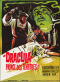 "Movie Posters:Horror, Dracula, Prince of Darkness (20th Century Fox, 1966). French Grande(45.25"" X 62""). Horror.. ..."