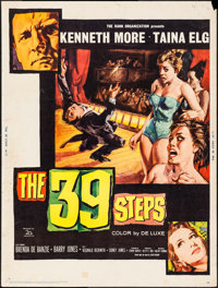 """The 39 Steps & Others Lot (20th Century Fox, 1960). Posters (7) (30"""" X 40""""). Thriller. ... (Total: 7 I..."""