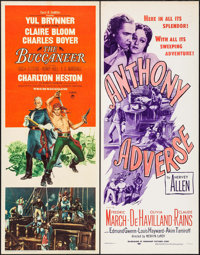 """The Buccaneer & Others Lot (Paramount, 1958). Inserts (5) (14"""" X 36""""). Adventure. ... (Total: 5 Items)"""