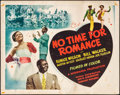 "Movie Posters:Black Films, No Time for Romance (World Distribution, 1948). Half Sheet (22"" X28""). Black Films.. ..."