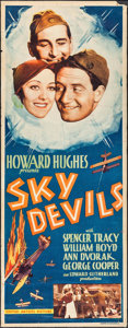 "Movie Posters:Comedy, Sky Devils (United Artists, 1932). Insert (14"" X 36""). Comedy.. ..."