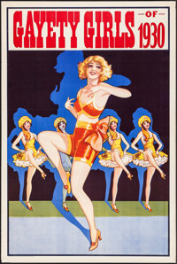 """Gayety Girls of 1930 (Donaldson Litho, 1930). Theater Pin-Up Poster (28"""" X 42""""). Miscellaneous"""