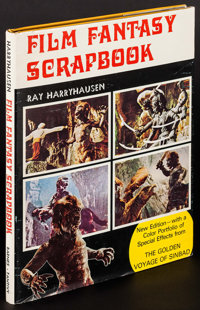 """Film Fantasy Scrapbook by Ray Harryhausen (The Tantivy Press, 1978). Autographed Hardcover Book (142 Pages, 9.25"""" X..."""
