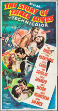 """Movie Posters:Romance, The Story of Three Loves (MGM, 1953). Three Sheet (41"""" X 79""""), One Sheet (27"""" X 41""""), & Lobby Card Set of 8 (11"""" X 14""""). Rom... (Total: 10 Items)"""