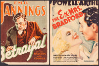 """Betrayal & Others Lot (Paramount, 1929). Trimmed Window Cards (5) (12""""-14"""" X 16""""-19.25"""") &am..."""