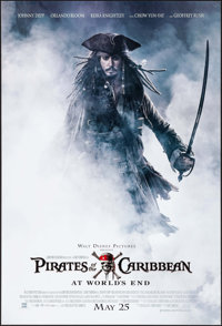 "Pirates of the Caribbean: At World's End (Buena Vista, 2007). One Sheet (27"" X 40"") DS Advance. Adventure"