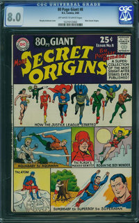 80 Page Giant 8 Secret Origins (DC, 1965) CGC VF 8.0 Off-white to white pages