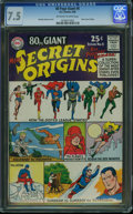 Silver Age (1956-1969):Superhero, 80 Page Giant 8 Secret Origins (DC, 1965) CGC VF- 7.5 Off-white to white pages.