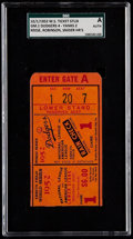 Baseball Collectibles:Tickets, 1952 World Series Game 1 Ticket Stub - SGC Authentic, Dodgers vsYankees. ...