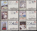 Baseball Collectibles:Others, 1978 World Series First Day Cover Lot of Six (6) With TwoSigned....