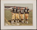 Football Collectibles:Photos, 1960's Green Bay Packers Photographs with Marie Lombardi. ...