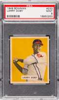 Baseball Cards:Singles (1940-1949), 1949 Bowman Larry Doby #233 PSA Mint 9 - None Higher....