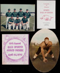 """Football Collectibles:Others, Dave """"Hawg"""" Hanner Assortment of Photos, Programs, and Stickers. ..."""