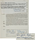 Baseball Collectibles:Others, 1956 Don Larsen Signed New York Yankees Contract - The Year of HisPerfect Game! ...