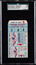 Baseball Collectibles:Tickets, 1952 World Series Game 4 Ticket Stub - SGC Authentic, Yankees vsDodgers. ...