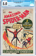 Silver Age (1956-1969):Superhero, The Amazing Spider-Man #1 (Marvel, 1963) CGC VG/FN 5.0 Off-white towhite pages....