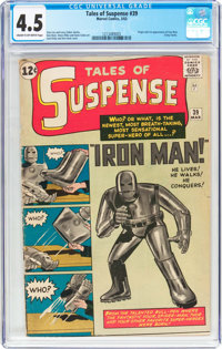Tales of Suspense #39 (Marvel, 1963) CGC VG+ 4.5 Cream to off-white pages