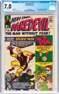 Silver Age (1956-1969):Superhero, Daredevil #1 (Marvel, 1964) CGC FN/VF 7.0 Off-white pages....