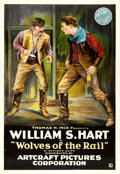 "Movie Posters:Western, Wolves of the Rail (Artcraft, 1918). One Sheet (28"" X 41"").. ..."