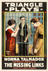 "The Missing Links (Triangle, 1916). One Sheet (28"" X 41.25""). Mystery"