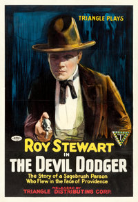 """The Devil Dodger (Triangle, 1917). One Sheet (27"""" X 41"""") Portrait Style"""