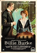 "Movie Posters:Comedy, Let's Get a Divorce (Paramount, 1918). One Sheet (28"" X 41"") StyleA.. ..."
