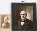 Photography:Studio Portraits, William McKinley: Two Photographs....