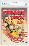 Golden Age (1938-1955):Cartoon Character, Four Color #62 Donald Duck (Dell, 1945) CBCS VG/FN 5.0 Off-white to white pages....