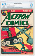 Golden Age (1938-1955):Superhero, Action Comics #22 (DC, 1940) CBCS Restored (Moderate) FN+ 6.5Off-white to white pages....