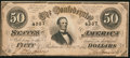Confederate Notes:1864 Issues, T66 $50 1864 PF-14 Cr. UNL.. ...