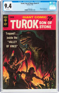 Silver Age (1956-1969):Adventure, Turok, Son of Stone Giant #1 (Gold Key, 1966) CGC NM 9.4 White pages....