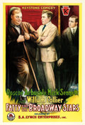 "Movie Posters:Comedy, Fatty and the Broadway Stars (Keystone-S.A. Lynch, 1915). One Sheet(28"" X 41"").. ..."