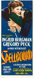 "Movie Posters:Hitchcock, Spellbound (British Empire Films, c. 1947). Australian Daybill (13""X 30"").. ..."
