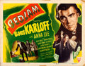 "Movie Posters:Horror, Bedlam (RKO, 1946). Half Sheet (22"" X 28"") Style A. Horror.. ..."