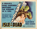 "Movie Posters:Horror, Isle of the Dead (RKO, 1945). Half Sheet (22"" X 28"") Style A. Horror.. ..."