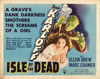 "Isle of the Dead (RKO, 1945). Half Sheet (22"" X 28"") Style A. Horror"