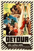 "Movie Posters:Film Noir, Detour (PRC, 1945). One Sheet (27"" X 41"").. ..."
