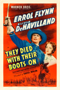 """Movie Posters:Western, They Died with Their Boots On (Warner Brothers, 1941). One Sheet (27"""" X 41"""").. ..."""