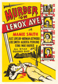 "Movie Posters:Black Films, Murder on Lenox Avenue (Colonnade Pictures, 1941). One Sheet (28.5""X 41"").. ..."