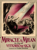 "Movie Posters:Drama, Miracle in Milan (RKO, 1951). French Grande (45"" X 60.5"") Boris Grinsson Artwork.. ..."