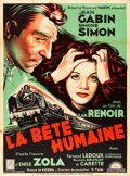 """Movie Posters:Foreign, La Bete Humaine (Lux, R-1940s). French Grande (47"""" X 63"""").. ..."""