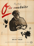 "Movie Posters:Foreign, Zero for Conduct (Franfilmdis, 1945). First Post-War Release French Grande (47"" X 62"") Jean Colin Artwork.. ..."