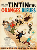 """Movie Posters:Foreign, Tintin and the Blue Oranges (Pathe Consortium Cinema, 1964). French Affiche (23"""" X 31"""") Hergé Artwork.. ..."""