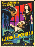 "Movie Posters:Film Noir, The Woman in the Window (Cineprodex, R-1950s). French Grande (47"" X62.5"") Guy Gerard Noel Artwork.. ..."
