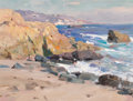 Fine Art - Painting, American:Contemporary   (1950 to present)  , Mian Situ (Chinese/American, b. 1953). Sunset, Laguna Beach.Oil on canvas. 9 x 12 inches (22.9 x 30.5 cm). Signed lower...