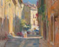 Fine Art - Painting, American:Contemporary   (1950 to present)  , Kevin MacPherson (American, b. 1956). Ancient Alleys. Oil oncanvasboard. 16 x 20 inches (40.6 x 50.8 cm). Signed lower ...